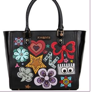 Nicole Lee Cody Signature Pop Art Satchel bag